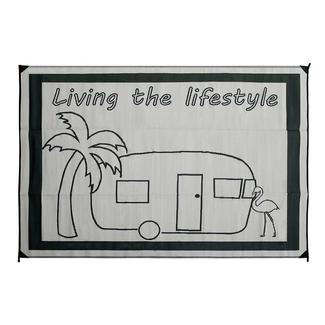 Living the Lifestyle Design Patio Mat, 9' x 12', Black