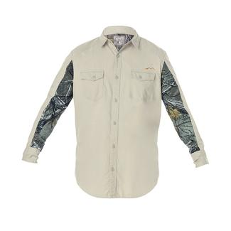 Realtree Men's Ripstop Long Sleeve Shirt, Silver Birch, Medium