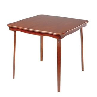 Scalloped Edge Folding Card Table, Cherry