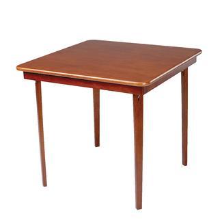 Straight Edge Folding Card Table, Cherry