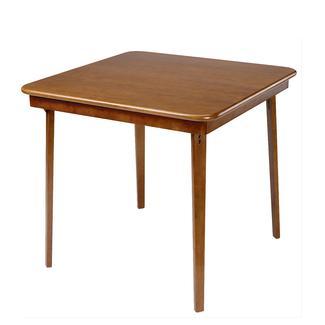 Straight Edge Folding Card Table Fruitwood