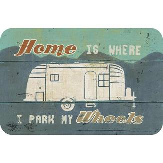 Reversible Placemat, Home is Where I Park My Wheels