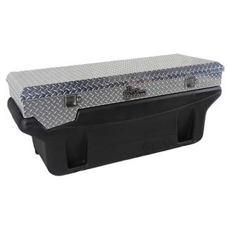 Compact Locking Aluminum Diamond Plate Toolbox