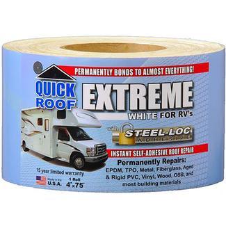 "Quick Roof Extreme Repair Tape, Bright White, 4"" x 75'"