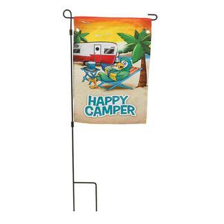 Happy Parrot Flag, 18&rdquo&#x3b;L x 12 &frac34&#x3b;&rdquo&#x3b;W