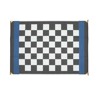 Patio Mat, Polypropylene, Checkered Flag Design, 6'x9', Black/White
