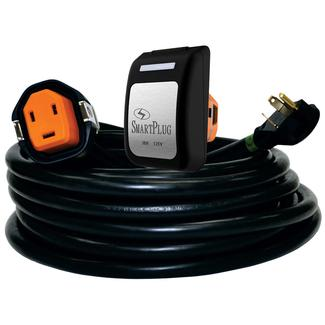 30 Amp 30' Cordset and Non-Metallic Inlet, Black/Black