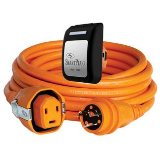 30 Amp Dual Configuration 50' Cordset with Twist-Type Connection and Non-Metallic Inlet, Orange/Black