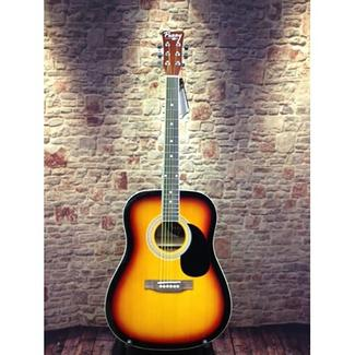 Perry Adult Dreadnought Acoustic Guitar Combo, Vintage Burst