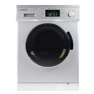 All-In-One Compact Combo Washer Dryer 1200 RPM spin Auto Water Level Sensor Dry Optional Venting/Condensing in Silver