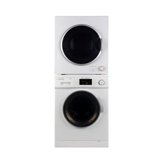 Stackable set of 1.6 Cu. Ft. Compact Super Washer & 3.5 Cu. Ft. Compact Short Dryer photo