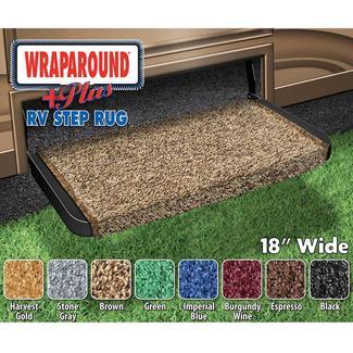 Wraparound Plus RV Step Rug - Brown, 18
