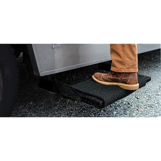 "Premium Wrap Around RV Step Rug, 23"", Black"