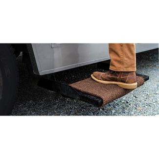 Premium Wrap Around RV Step Rug, 23'', Brown