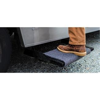 Premium Wrap Around RV Step Rug, 23&#x27&#x3b;&#x27&#x3b;, Gray
