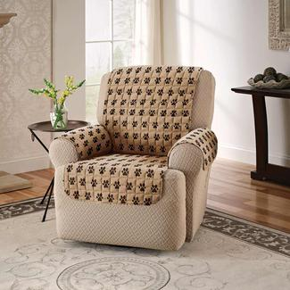 Paw Print Furniture Protector, Recliner, Seat Width- 23&quot&#x3b;