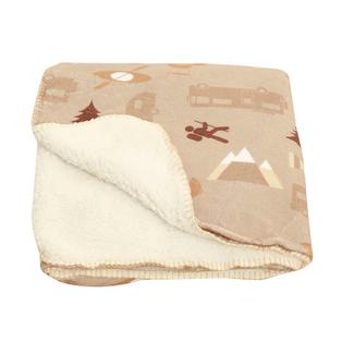 """Sherpa Campground Throw, 60"""" x 50"""", Taupe"""