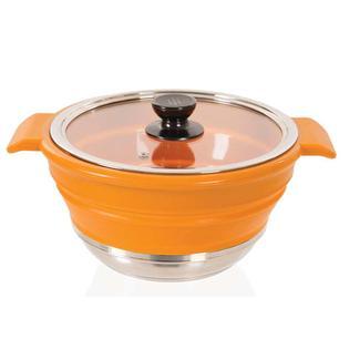 Flat Fit Collapsible Pot, 4 Qt.