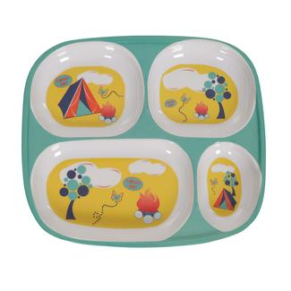 Pup Tent, Teal/Yellow