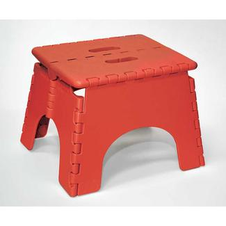 9u201d Red Folding Stool  sc 1 st  C&ing World & E-Z Foldz Folding Step Stool 9