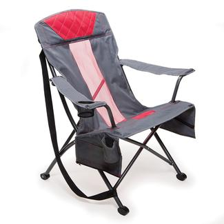 Gray-Red Tension Chair