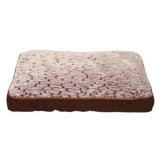 Plush Pet Bed, Brown