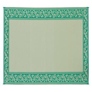 Reversible Classical Design Patio Mat, 8' x 20', Green