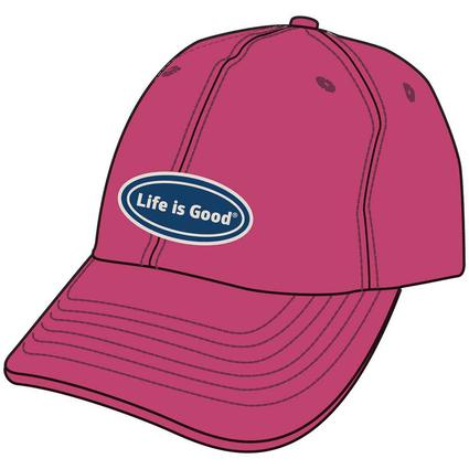 Life Is Good Oval Chill Cap, Roseberry