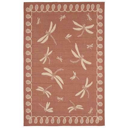 Rust Dragonfly Terracotta Rug, 39