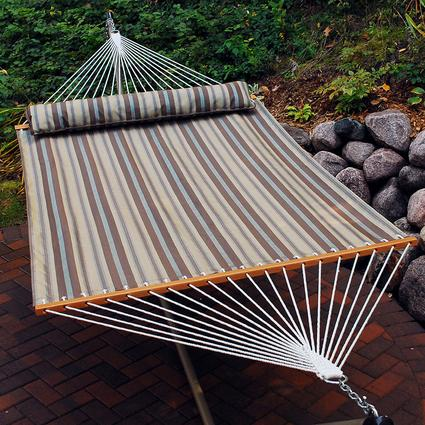 Quick Dry Hammock with Pillow, Brown - 13'