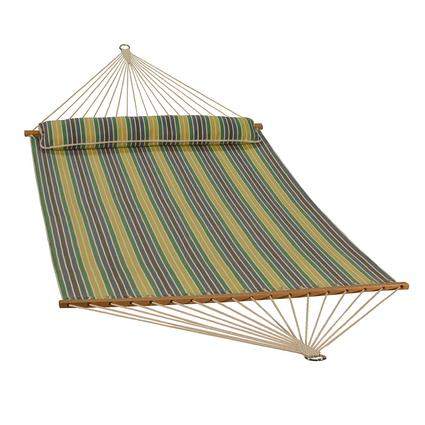 Quick Dry Hammock with Pillow, Spring Stripe - 13'