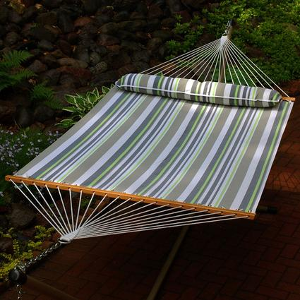 Quick Dry Hammock with Pillow, Gray - 13'