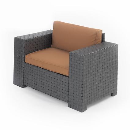 Portable Outdoor Wicker Chair - Cocoa, 36