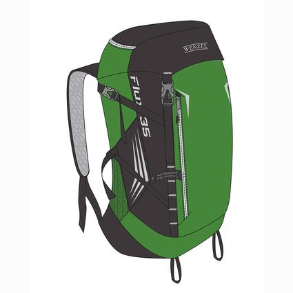 Wenzel Flux 35L Hiking Pack, Green