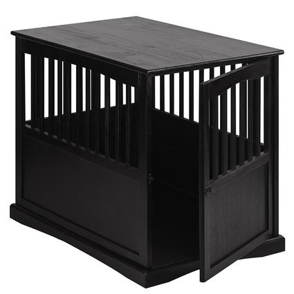 Large Pet Crate End Table, Black