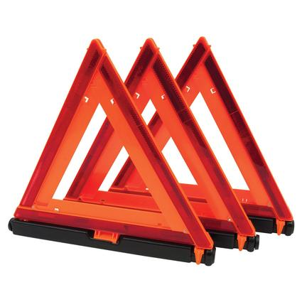 Emergency Warning Triangle, 3 Pack