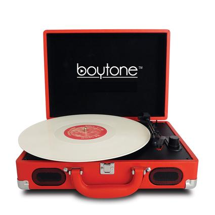 5-in-1 Suitcase Style Turntable, Red