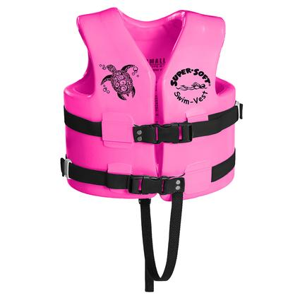 Super Soft Child Life Vest, Small, Flamingo Pink