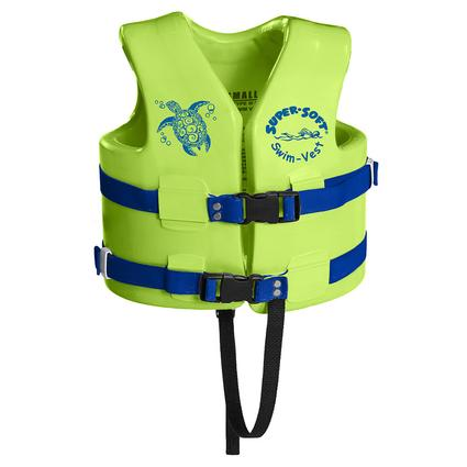 Super Soft Child Life Vest, X-Small, Kool Lime Green
