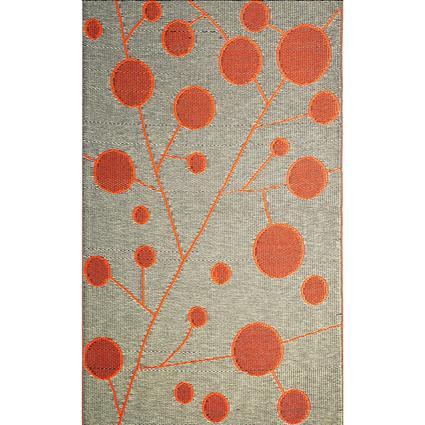 b.b.begonia Cotton Ball Brown/Orange Reversible Outdoor Rug, 5 x 8