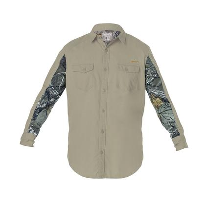 Realtree Men's Ripstop Long Sleeve Shirt, Covert Green, Large