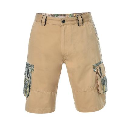 Realtree Men's Twill Cargo Short, Candied Ginger, 44x32