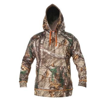 Realtree Men's Hooded Poly Fleece Pullover, Large