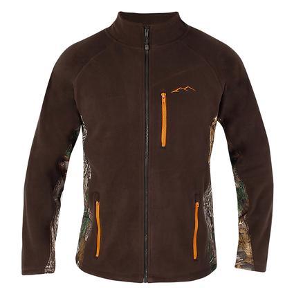 Realtree Men's Full Zip Microfleece Jacket, Greige, Medium