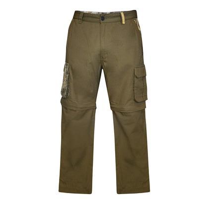 Realtree Men's Ripstop Zip-Off Cargo Pant, Covert Green, 48x32
