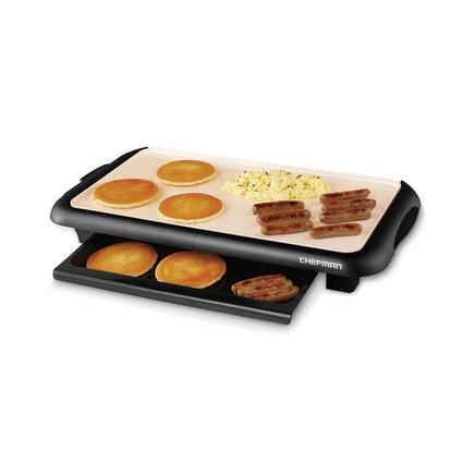 Chefman Ceramic Electric Griddle with Warming Tray