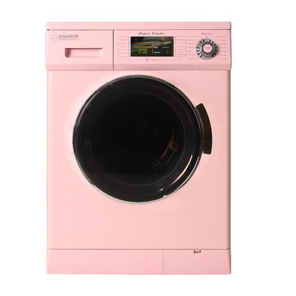 Equator 1.57 cu.ft. Compact Convertible Super Combo Washer with Venting/Condensing Drying and Automatic Water Level and Sensing Dry, Pink