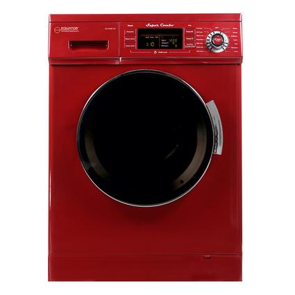 Equator 1.57 cu.ft. Compact Convertible Super Combo Washer with Venting/Condensing Drying and Automatic Water Level and Sensor Dry, Merlot