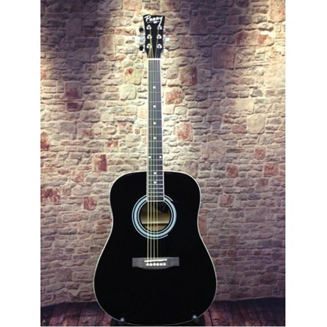 Perry Adult Dreadnought Acoustic Guitar Combo, Black - Chord Buddy ...