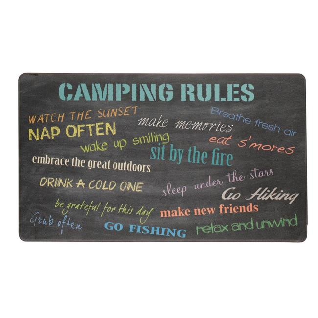Genial Image Anti Fatigue Kitchen Mat, Camping Rules. To Enlarge The Image, Click .